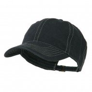 6 Panel Cotton Washed Cap - Navy