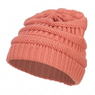 Women's Patterned Knit Beanie Cap - Strawberry Ice