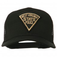 West Virginia State Police Patched Mesh Cap - Black