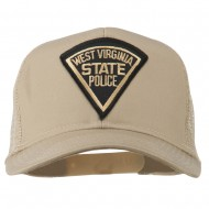 West Virginia State Police Patched Mesh Cap - Khaki