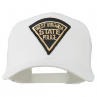West Virginia State Police Patched Mesh Cap - White