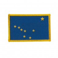 Western State Embroidered Patches - Alaska