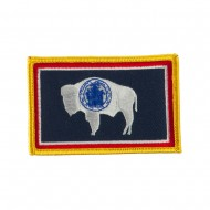 Western State Embroidered Patches - Wyoming