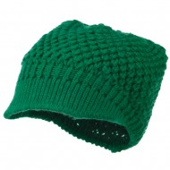 Women's Visored Knit Beanie - Emerald