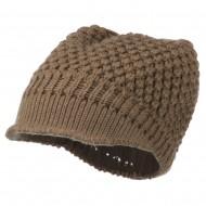 Women's Visored Knit Beanie - Camel