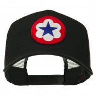 WWII Army Service Forces Patched Mesh Back Cap - Black