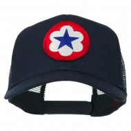 WWII Army Service Forces Patched Mesh Back Cap - Navy