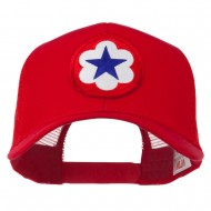 WWII Army Service Forces Patched Mesh Back Cap - Red