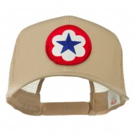 WWII Army Service Forces Patched Mesh Back Cap - Khaki