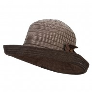 Women's Designed Crushable Sun Hat - Brown
