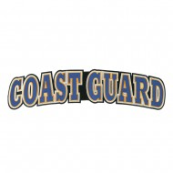 Extra Large Coast Guard Embroidered Patch - Navy