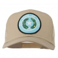 Texas State Seal Patched Mesh Cap - Khaki
