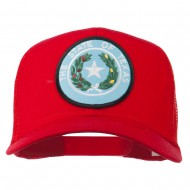 Texas State Seal Patched Mesh Cap - Red