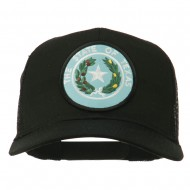Texas State Seal Patched Mesh Cap - Black