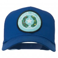 Texas State Seal Patched Mesh Cap - Royal