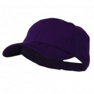 Youth Athletic Jersey Mesh Cap - Purple