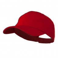 Youth Athletic Jersey Mesh Cap - Red