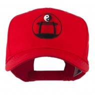 Martial Arts Logo Yin and Yang Embroidered Cap - Red
