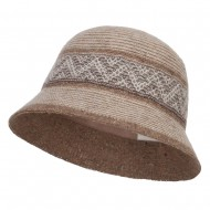 Women's Yarn Blend Cloche Hat - Beige