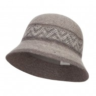 Women's Yarn Blend Cloche Hat - Grey