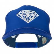 Youth Big Diamond Outline Embroidered Mesh Cap - Royal