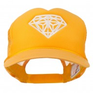 Youth Big Diamond Outline Embroidered Mesh Cap - Gold