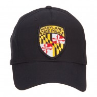 Maryland State Police Patched Cap - Black