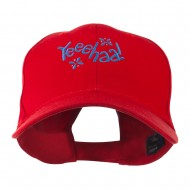 Yeeehaa Cowboy Saying Embroidered Cap - Red