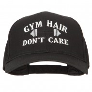 Gym Hair Don't Care Embroidered Solid Cotton Pro Cap - Black