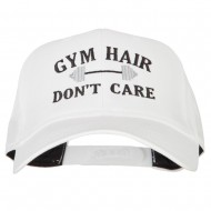 Gym Hair Don't Care Embroidered Solid Cotton Pro Cap - White