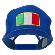 Youth Italy Flag Embroidered Foam Mesh Back Cap - Royal