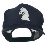 Youth Knight Chess Embroidered Mesh Cap - Navy