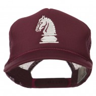 Youth Knight Chess Embroidered Mesh Cap - Maroon