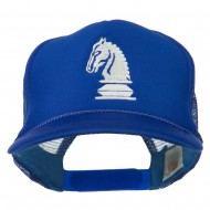 Youth Knight Chess Embroidered Mesh Cap - Royal