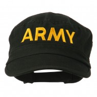 Army Embroidered Enzyme Army Cap - Black