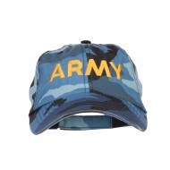 Army Embroidered Enzyme Camo Cap - Sky