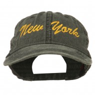New York State Embroidered Washed Cap - Black