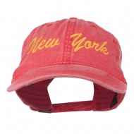 New York State Embroidered Washed Cap - Red