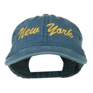 New York State Embroidered Washed Cap - Navy