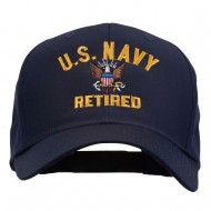 US Navy Retired Military Embroidered Cap - Navy
