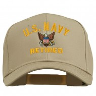 US Navy Retired Military Embroidered Cap - Khaki