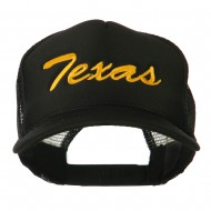 Youth Mid States Texas Embroidered Foam Mesh Cap - Black