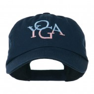 Yoga in two colors Embroidered Cap - Navy