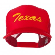 Youth Mid States Texas Embroidered Foam Mesh Cap - Red
