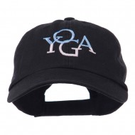 Yoga in two colors Embroidered Cap - Black