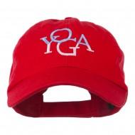 Yoga in two colors Embroidered Cap - Red