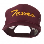Youth Mid States Texas Embroidered Foam Mesh Cap - Maroon