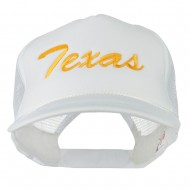 Youth Mid States Texas Embroidered Foam Mesh Cap - White