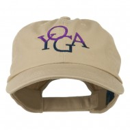 Yoga in two colors Embroidered Cap - Khaki