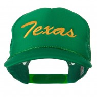 Youth Mid States Texas Embroidered Foam Mesh Cap - Kelly